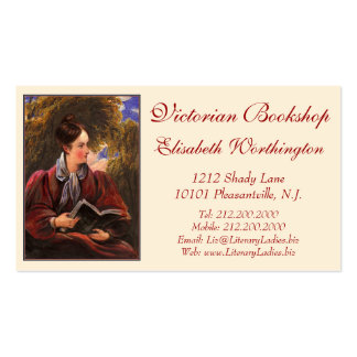 Vintage Look Card for Library, Bookshop, Book Fair Business Card Template