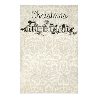 Vintage Look Christmas Greeting Stationery