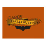 Vintage-Look Happy Halloween Bat Postcard