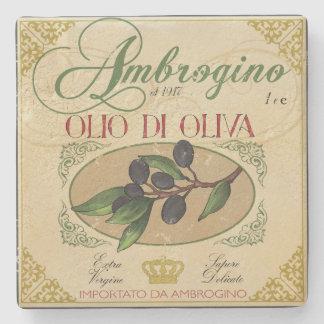 Vintage look Italian Label Art Coaster