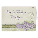 Vintage Look Lilac Hydrangea, Correspondence Note
