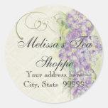 Vintage Look Lilac Hydrangea - Stickers