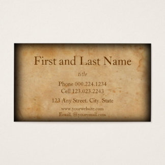 Vintage Look Old and Worn Business Card