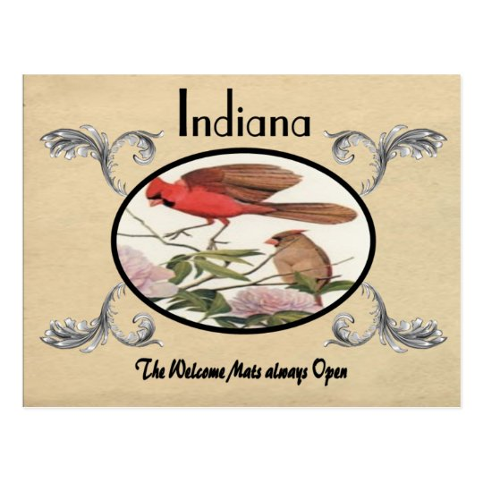 Vintage Look Old Postcard Indiana State