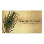 Vintage Look Peacock Feathers Elegant Business Cards