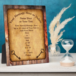 Vintage look Personalized Plaque for Any Occasion