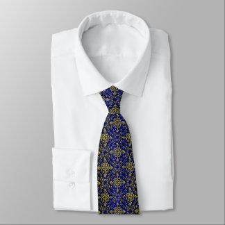 Vintage Look Royal Blue & Gold Damask #2 Tie
