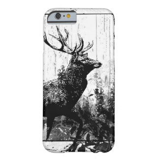Vintage look Stag in Black and White, Deer Animal Barely There iPhone 6 Case