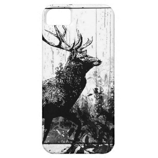 Vintage look Stag in Black and White, Deer Animal iPhone 5 Cover