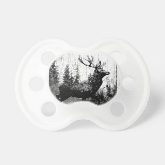 Vintage look Stag in Black and White, Deer Animal Dummy