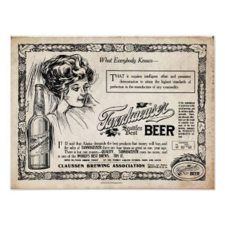 Vintage look Tannhaeuser Beer Print