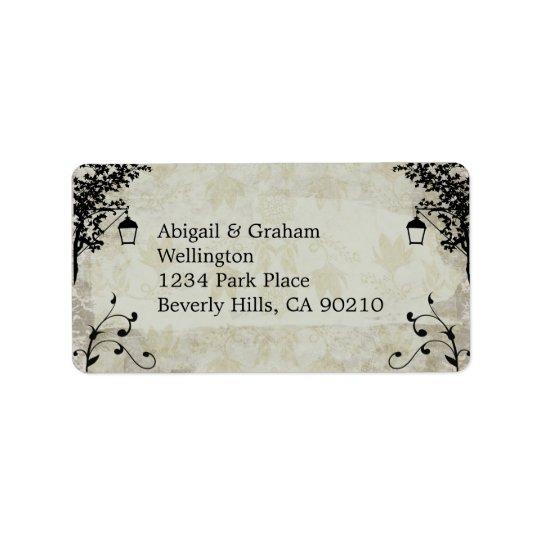 Vintage Look Wedding Address Labels