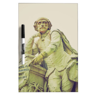 Vintage looking Statue of William Shakespeare Dry Erase Board