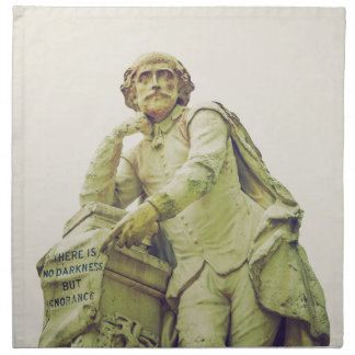 Vintage looking Statue of William Shakespeare Napkin