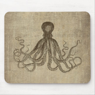 Vintage Lord Bodner Octopus Triptych Mouse Mat