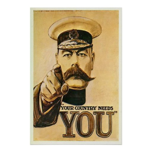 Vintage Lord Kitchener Poster Print