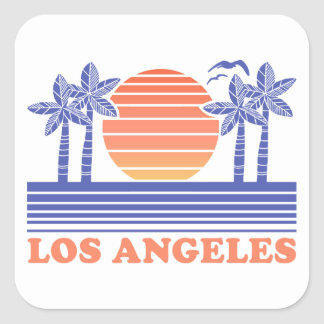 Vintage Los Angeles California Square Sticker