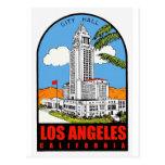 Vintage Los Angeles City Hall travel ad Post Cards