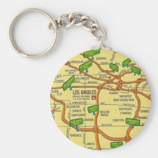 Vintage Los Angeles Key Ring