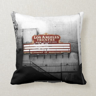 Vintage Los Angeles Theatre Sign Cushion