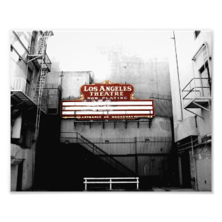 Vintage Los Angeles Theatre Sign Photo Art
