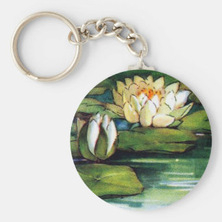 Vintage Lotus Key Ring