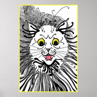 Vintage Louis Wain Art Nouveau Cat Poster