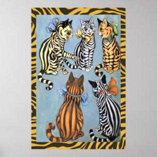 Vintage Louis Wain Cat Pals Poster Print