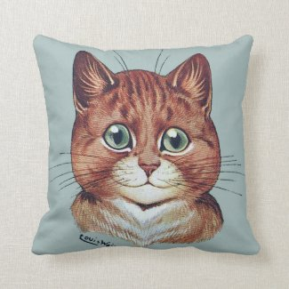 Vintage Louis Wain Cat Portraits Cushion