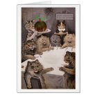 Vintage Louis Wain Cats Christmas Art Card