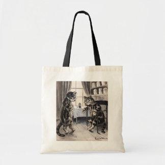 Vintage Louis Wain Get Well Cat Tote Bag