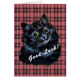 Vintage Louis Wain Lucky Black Cat Card