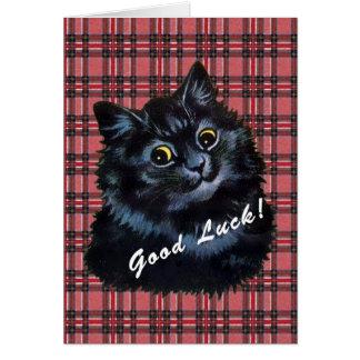 Vintage Louis Wain Lucky Black Cat Card