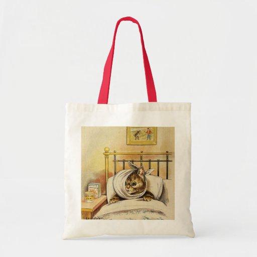 Vintage Louis Wain Poorly Cat Owner Gift Tote Bag