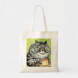 Vintage Louis Wain Tea Cup Cat Tote Bag