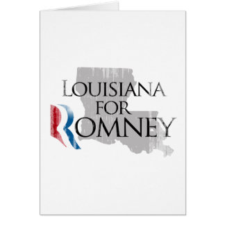 Vintage Louisiana for Romney.png Greeting Card
