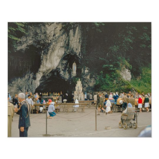 Vintage Lourdes, The Grotto Poster