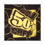 Vintage Love 50's Cafe - Wrapped Canvas Stretched Canvas Prints