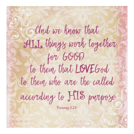 Vintage Love: All Things work together Bible Verse Acrylic Wall Art