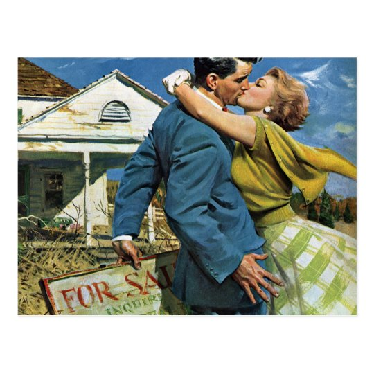 Vintage Love and Romance, Change of Address Postcard
