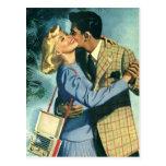 Vintage Love and Romance, Christmas Dance Post Card