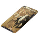 Vintage Love and Romance, Flirt by Alphonse Mucha Barely There iPod Covers