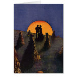 Vintage Love and Romance, Harvest Moonlight Greeting Card
