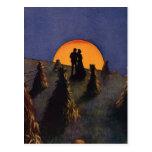 Vintage Love and Romance, Harvest Moonlight Post Card