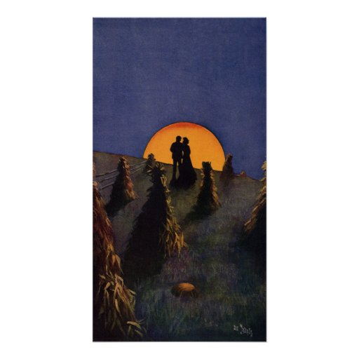 Vintage Love and Romance, Harvest Moonlight Print