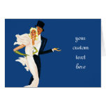 Vintage Love and Romance, Modern Wedding Couple Greeting Card