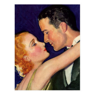 Vintage Love and Romance, Retro Hollywood Movies Postcard