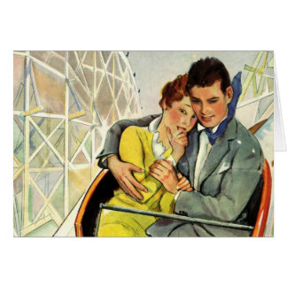 Vintage Love and Romance, Roller Coaster Ride Card