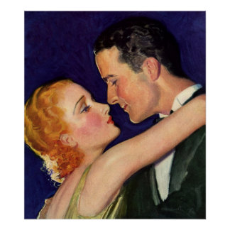 Vintage Love and Romance, Romantic Hollywood Poster