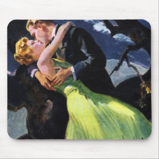 Vintage Love and Romance, Romantic Kiss Mouse Pad